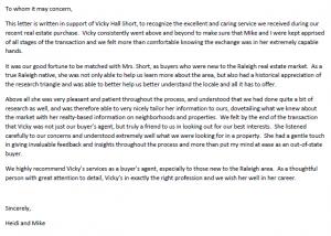 vicky letter
