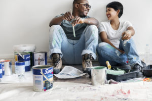 Couple Painting Walls in Home | The Ida Terbet Group