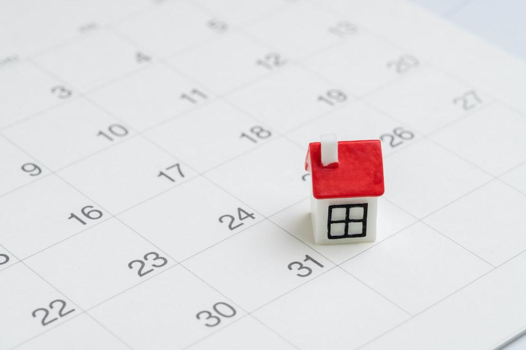House on a calendar