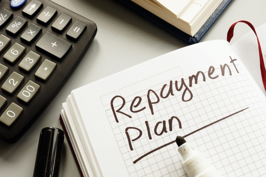 Repayment plan book