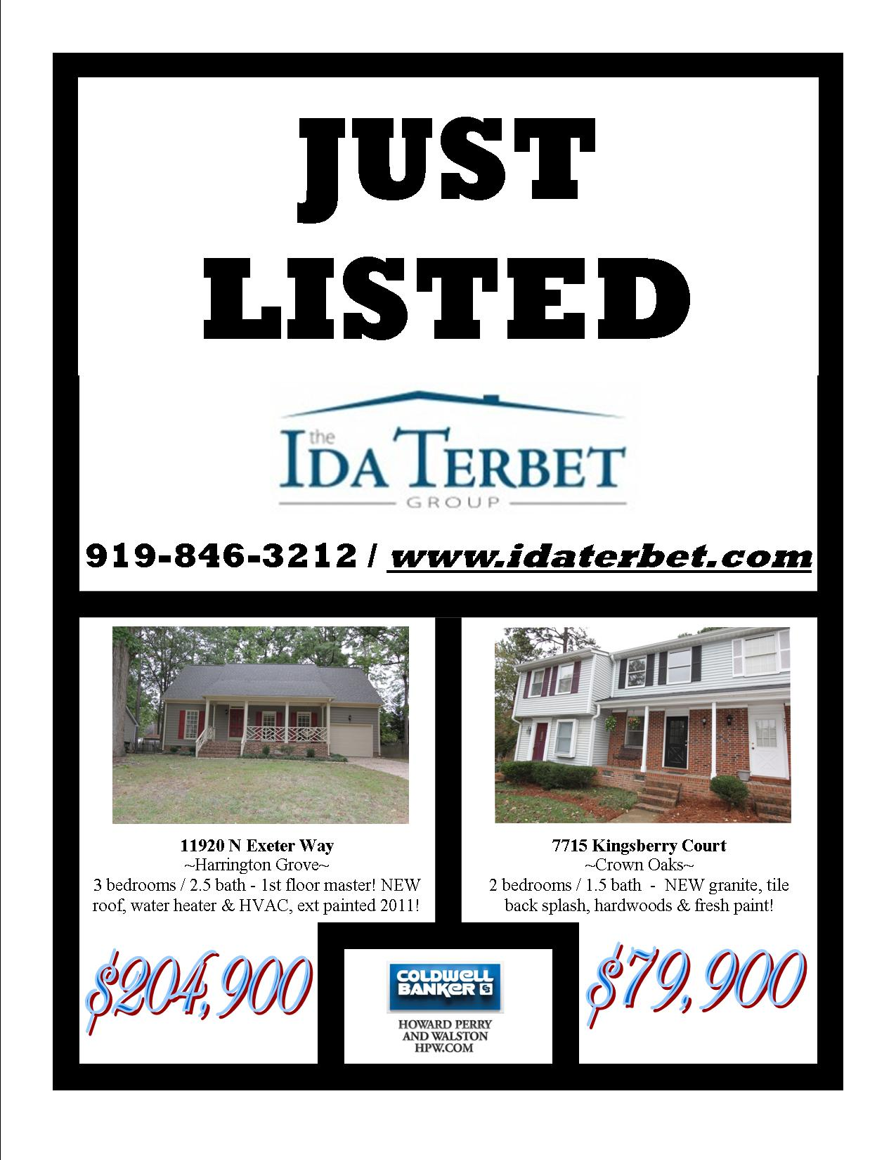 just listed 10-14-13